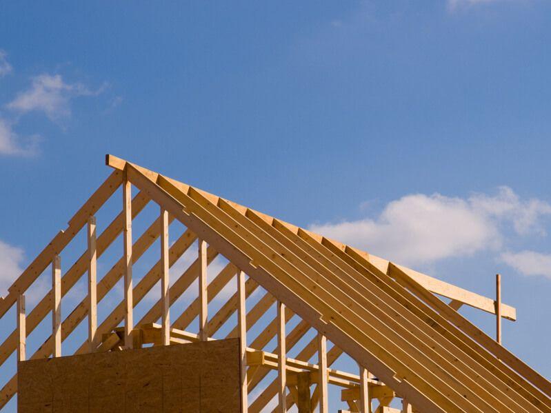 Holzbau Brandt - Dachstuhl eines Massivhauses in Niedersachsen