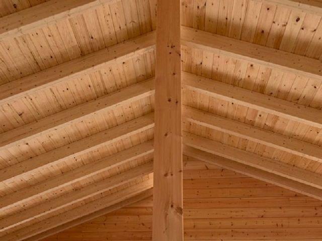 Holzbau Brandt - Blockhaus mit Aufdachdämmung - Wohnhaus