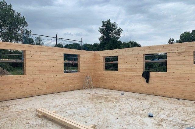 Blockhausbau - Einfamilienhaus in echter Blockbauweise ohne Plastik - Holzbau Wolfgang Brandt