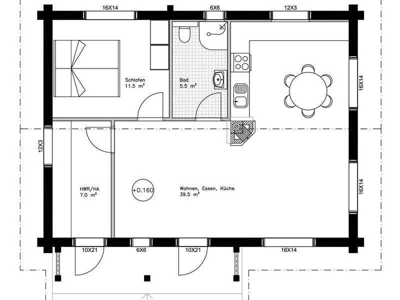 Holzhaus Brandt - Blockhaus als Singlehaus in Niedersachsen
