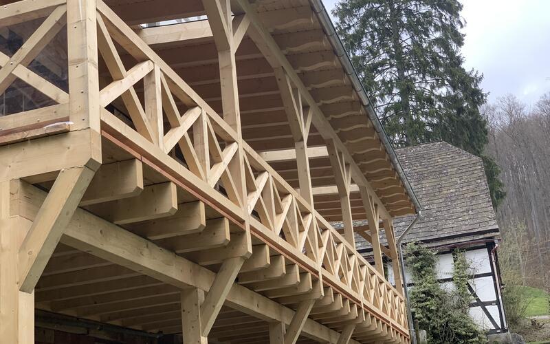 Holzbau Brandt - Neue Terrasse - Restaurant Sievershagener Mühle - Niedersachsen