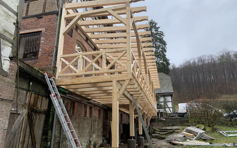 Neue Terrasse gebaut - Restaurant Sievershagener Mühle
